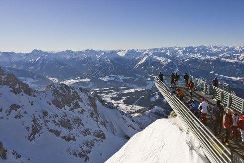 The best views in Alps: Skywalk, Dachstein; Top of Tirol, Stubai; Stubnerkogl, Gastein; Hinterer Brunnenkogel, Pitztal; Big3, Sölden; Dreiländerblick,  Kaunertaler