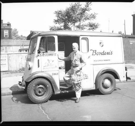 Borden S Milk Deliveryman Royal Photo Company