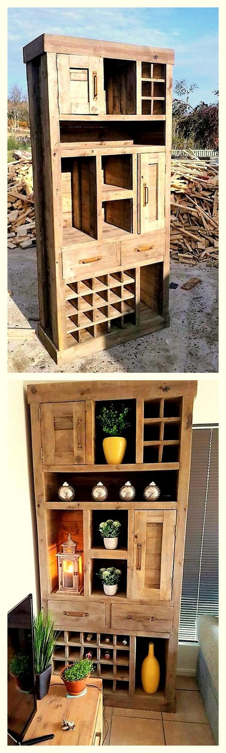 Decent pallet hutch idea