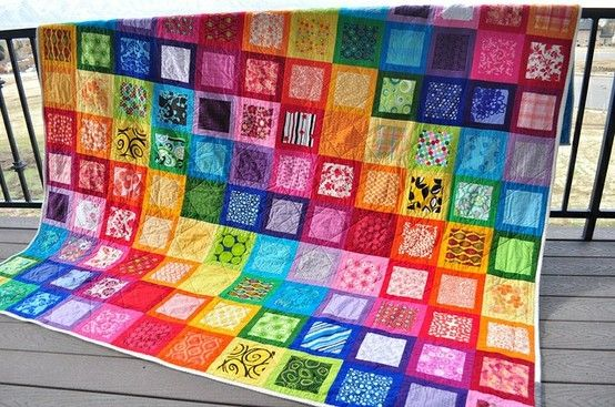 Rainbow quilt - Ideas Ideas... by jodi