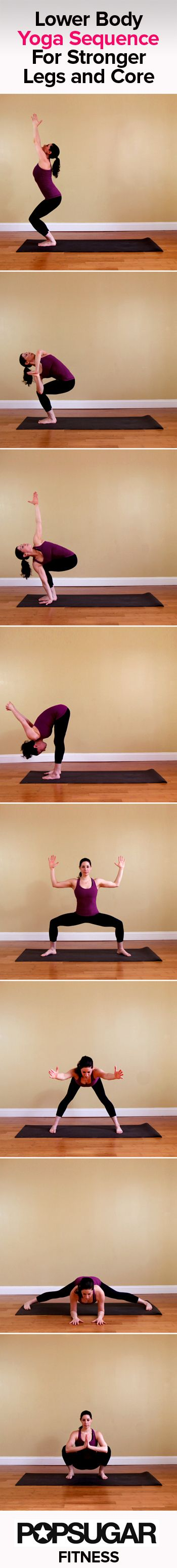 L O V E♥♥  Yoga Sequence For Legs and Core