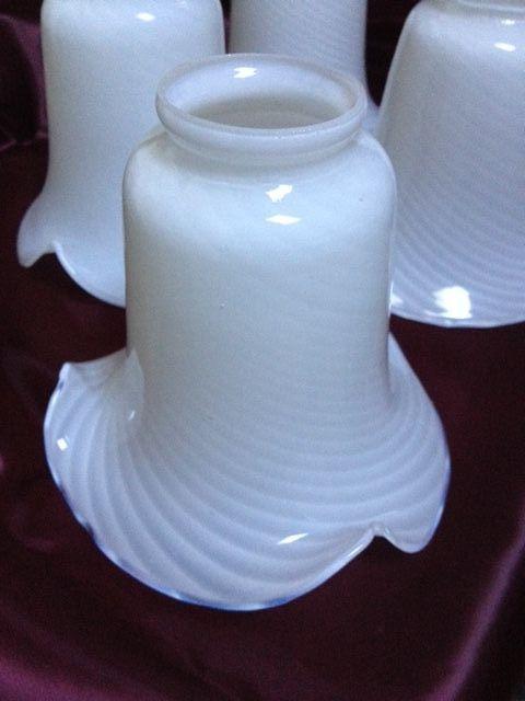 55 best ceiling fans n light shades images on pinterest light 4 vintage white milk glass ruffled ceiling fan light lamp shade globes aloadofball Images