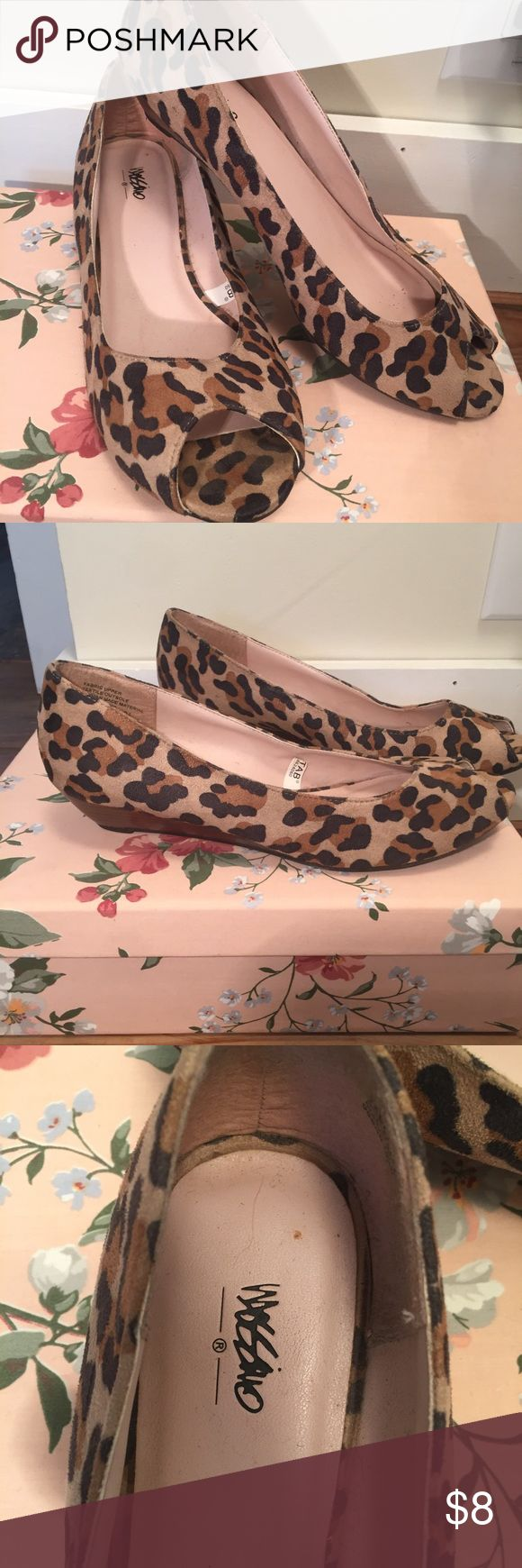 Leopard Print Wedges In great condition Mossimo Supply Co. Shoes Wedges