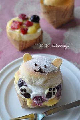 corecle コレクル > nonnon > ●白クマさんの冷たいクリームパン