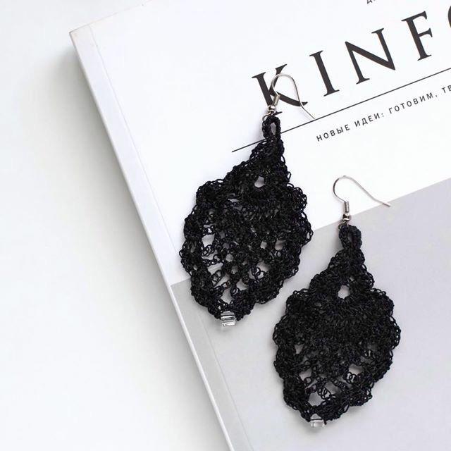CROCHET EARRINGS- knitwear accessories by flavourknit on Etsy