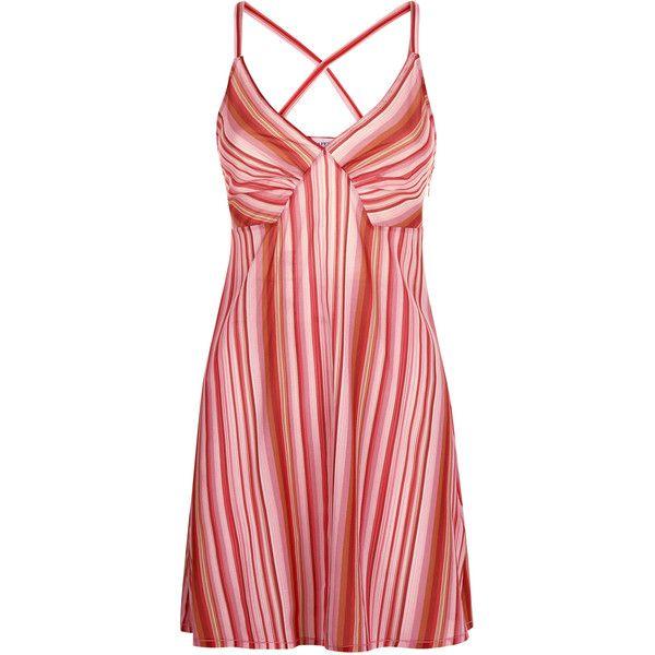 La Perla Floral Rhapsody Red Stripe Print Silk Short Dress ($650) ❤ liked on Polyvore featuring dresses, intimates, mini dress, short mini dress, short floral dresses, sun dresses and red striped dress