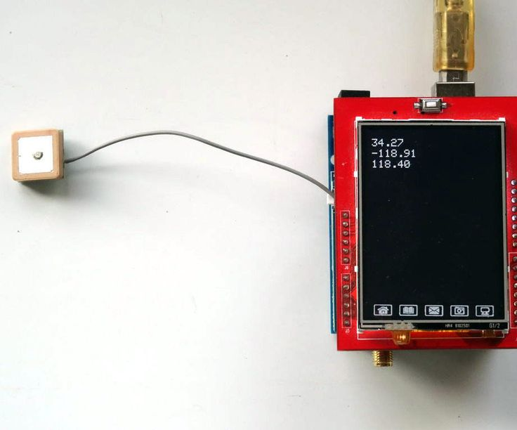 Arduino Uno and Visuino: GPS Location Display With GPS and TFT Touchscreen Display Shields #Arduino #Visuino