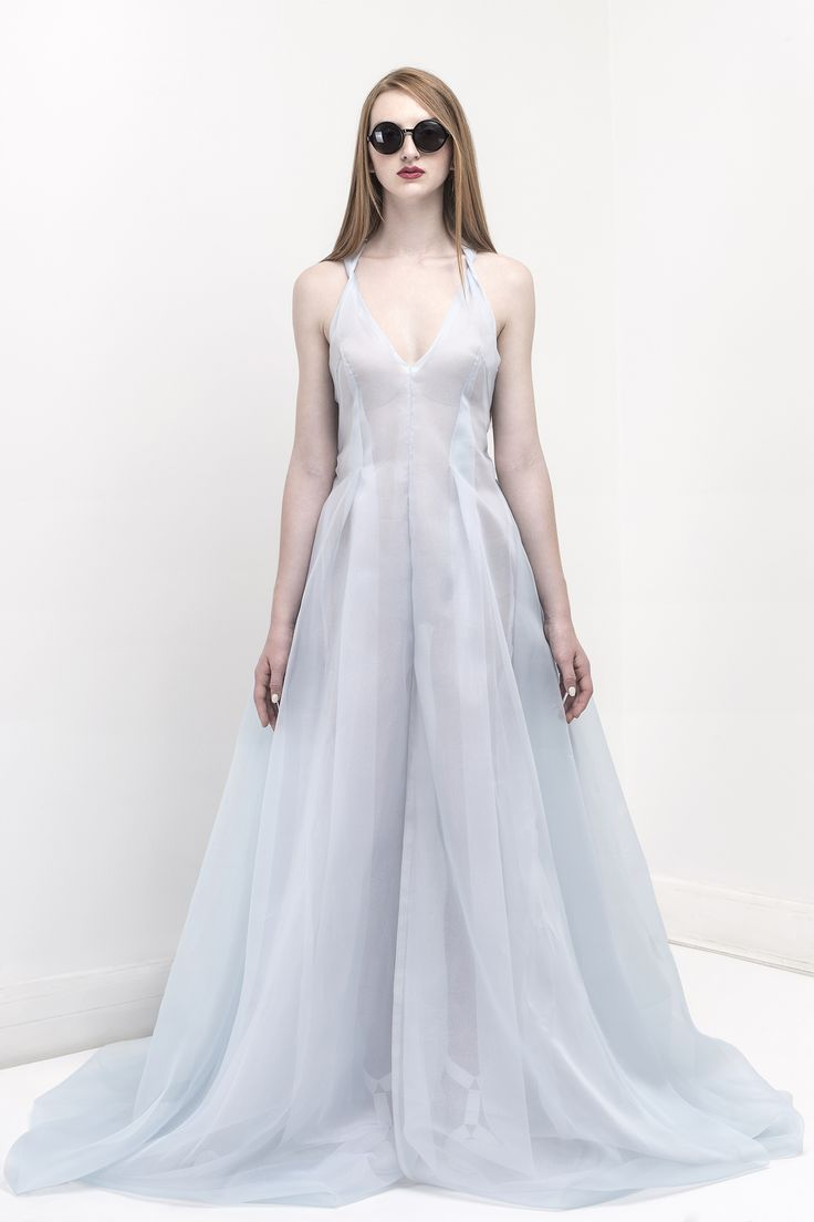 Sparkling cindarela dress / Organza skyblue / Organza White Glittering