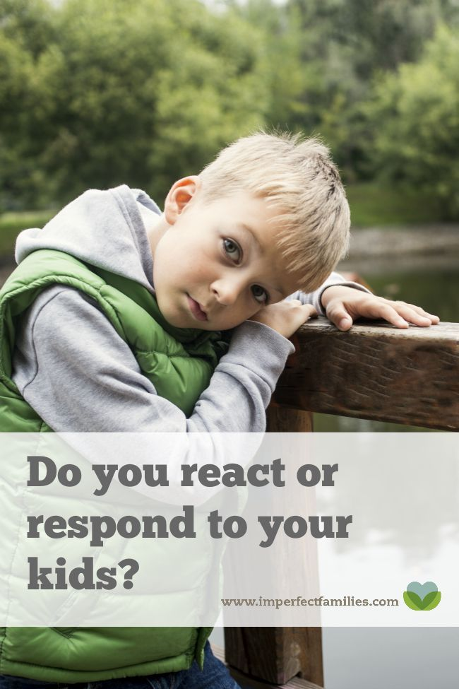 Do you react or respond to your kids? Examples of how to respond calmly and empathetically rather than yell at your kids!