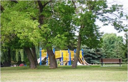Kinsmen Park the perfect amount of sun and shade located at 2600 Abbott Street.