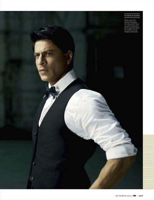 shahrukh khan GQ india oct 2011