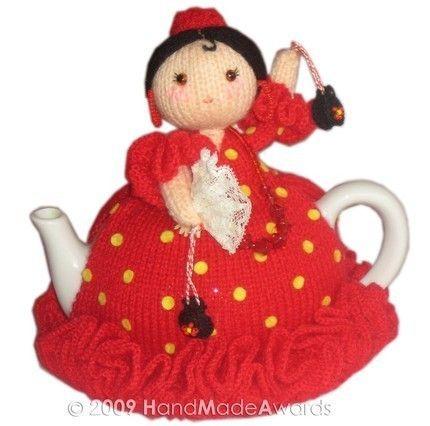 ❇Crochet Tea Cosies,  Coffee and Tea Cup and Mug Snugs and HugsOle Ole Spanish Ballerina Tea Cosy Pdf Email by HandMadeAwards, $4.50