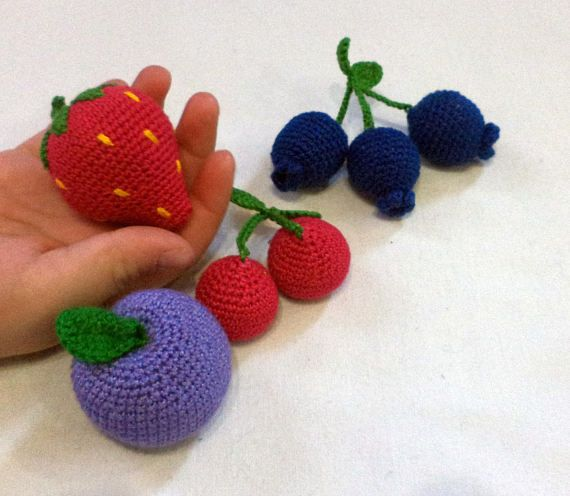 Fruit  Play Food Toy Food Crochet Food Crocheted Food