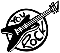 Rockabilly You rock, Velours-Motiv, schwarz - PeppAuf.de  Auf peppauf.de