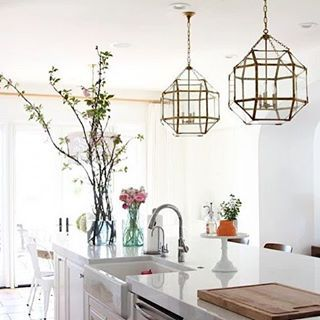 """Lovely brass lighting! Check out the blog for even more images of  beautiful home interiors.  : @beckiowens"" Photo taken by @cococozy on Instagram, pinned via the InstaPin iOS App! http://www.instapinapp.com (11/03/2015)"