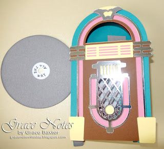 Jukebox B-day Card with double-sided record. You've got to see the details inside! Visit the blog for more pics and info.