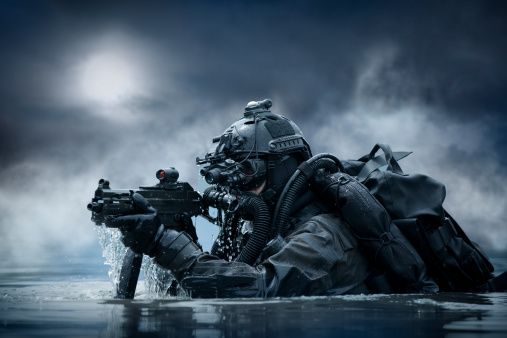 High-Res Stock Photography: Special Operation Forces combat diver
