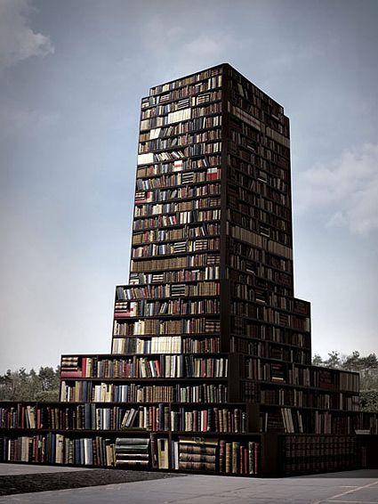 Tower of book statue bucharest