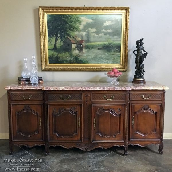 Antique Furniture   Antique Buffets and Sideboards   Country French Buffet  with Marble Top   www. Best 25  Victorian buffets and sideboards ideas on Pinterest