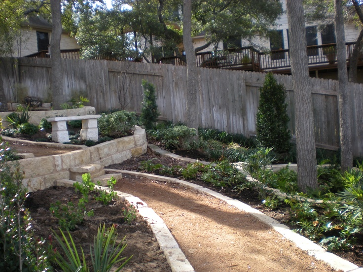 Xeriscaped Backyard Design : Xeriscaped Pathway by Bill Rose of Blissful Gardens in Austin, Texas