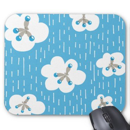 Clouds And Methane Molecules Blue Chemistry Geek Mouse Pad - pattern sample design template diy cyo customize