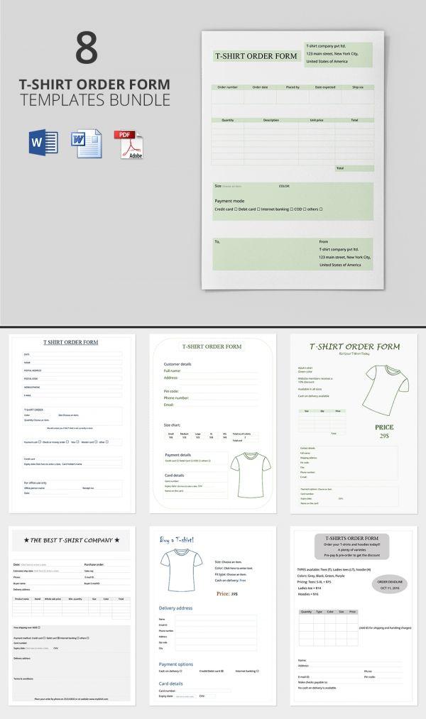 25+ unique Order form ideas on Pinterest Order form template - event order form