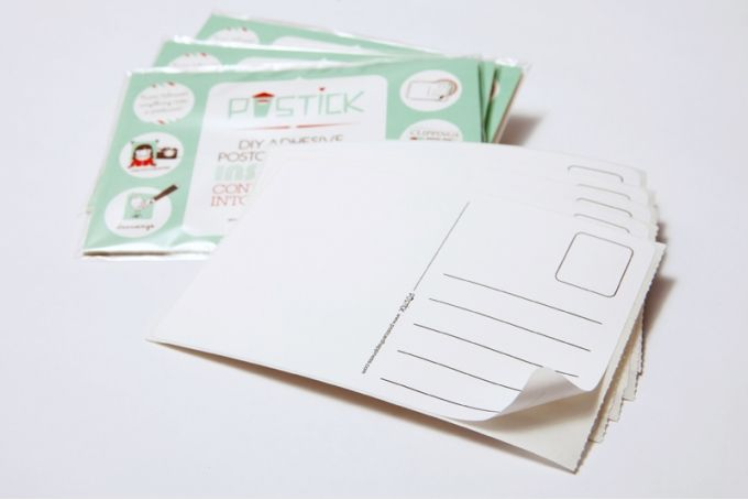 Postick - Pack of 20 adhesive postcard-back labels by Tatjana Buisson Design/ Illustration