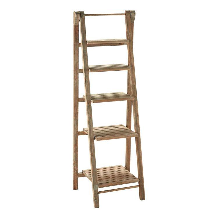 Wooden ladder shelf unit W 46cm Freeport