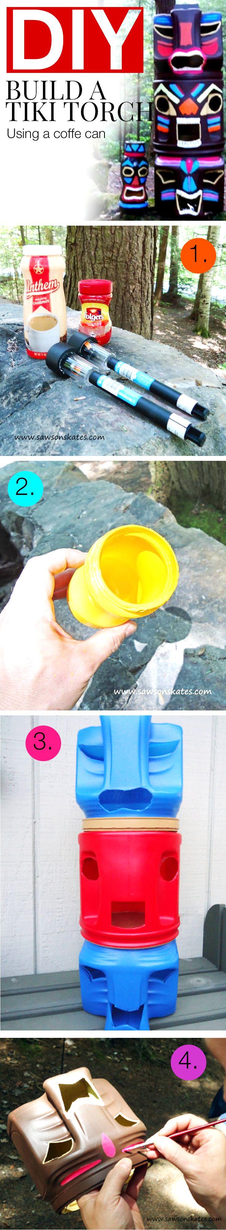DIY Coffee Can Tiki Torches