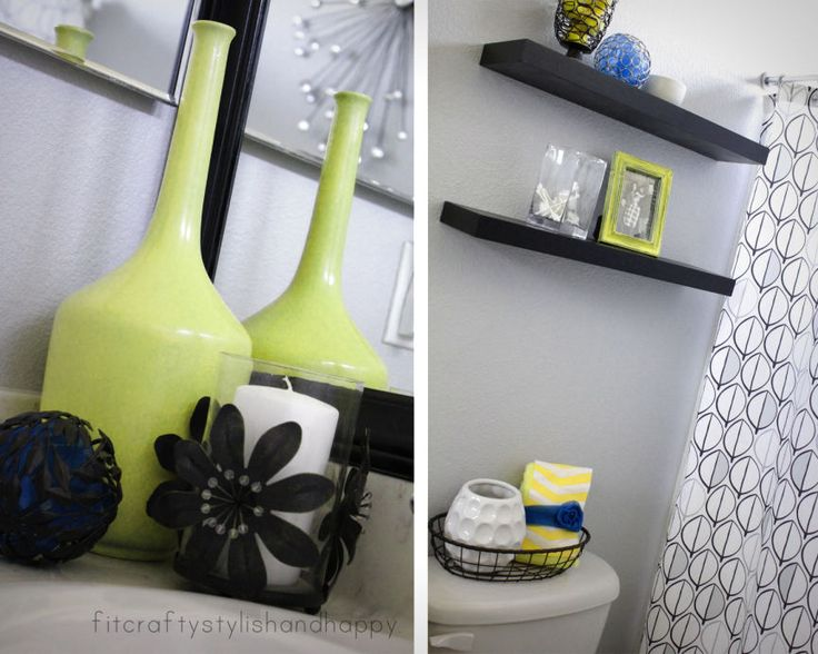 YELLOW AND WHITE BATHROOM IDEAS - http://www.homedesignstyler.com/yellow-and-white-bathroom-ideas/