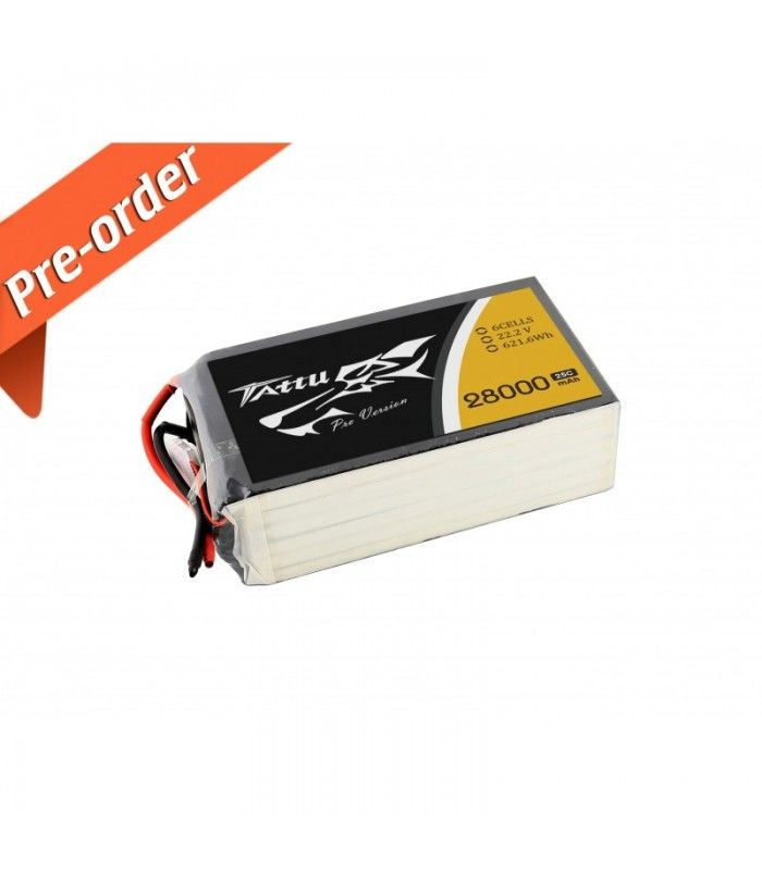 New Gens ACE Tattu 28000mAh 22.2V 25C 6S1P Lipo Battery Pack -10% to still 15.11.2015