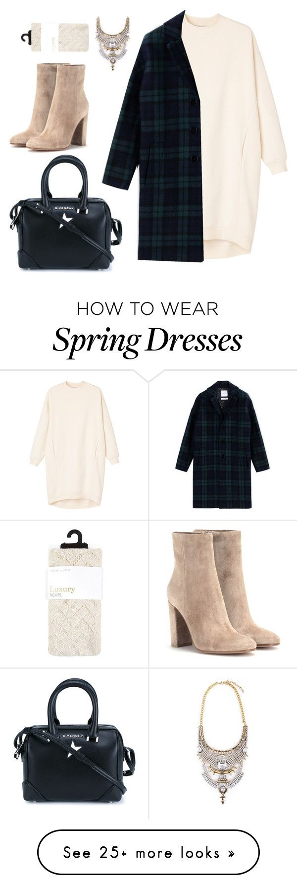 """Spring"" by babko-kate on Polyvore featuring Givenchy, Monki, Each X Other and Gianvito Rossi"