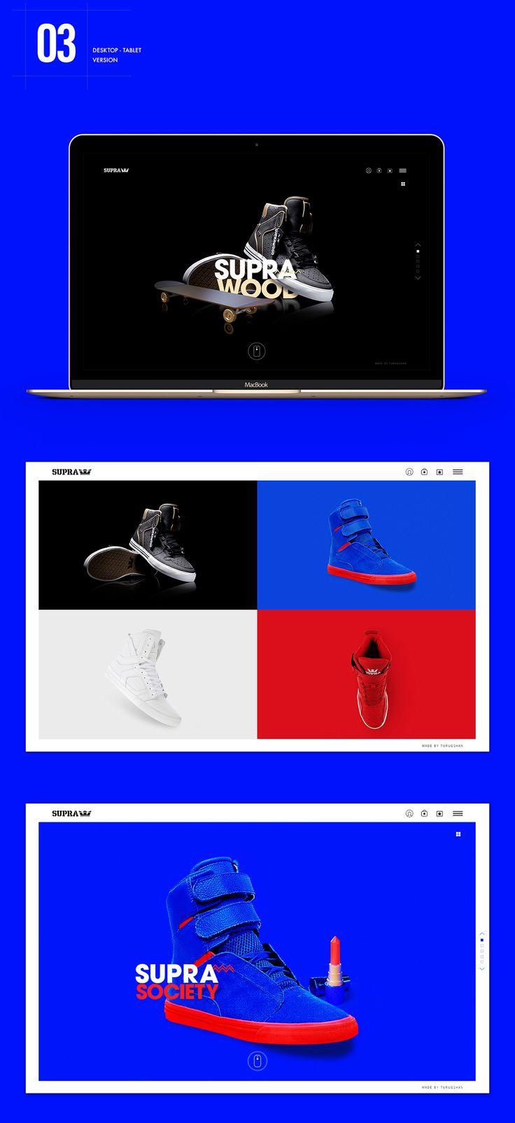 Supra Footwear Website on Behance