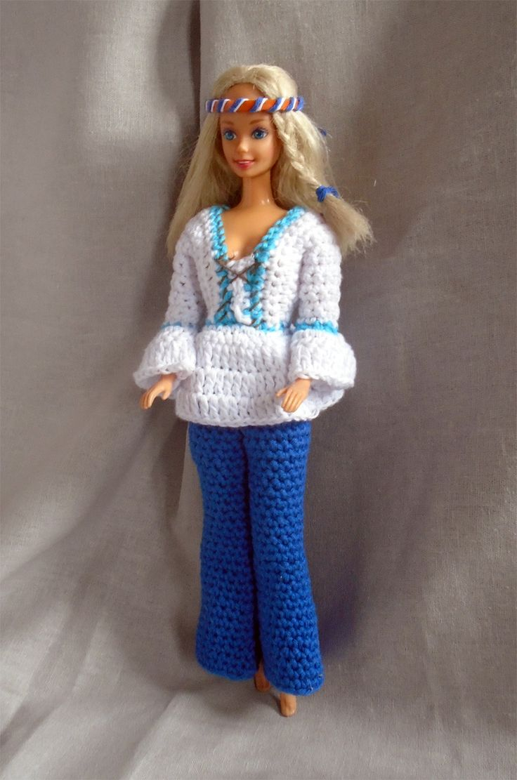 Hippie dress for Barbie