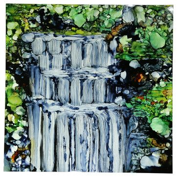 Chasing Waterfalls Original Abstract Painting By Jon Allen