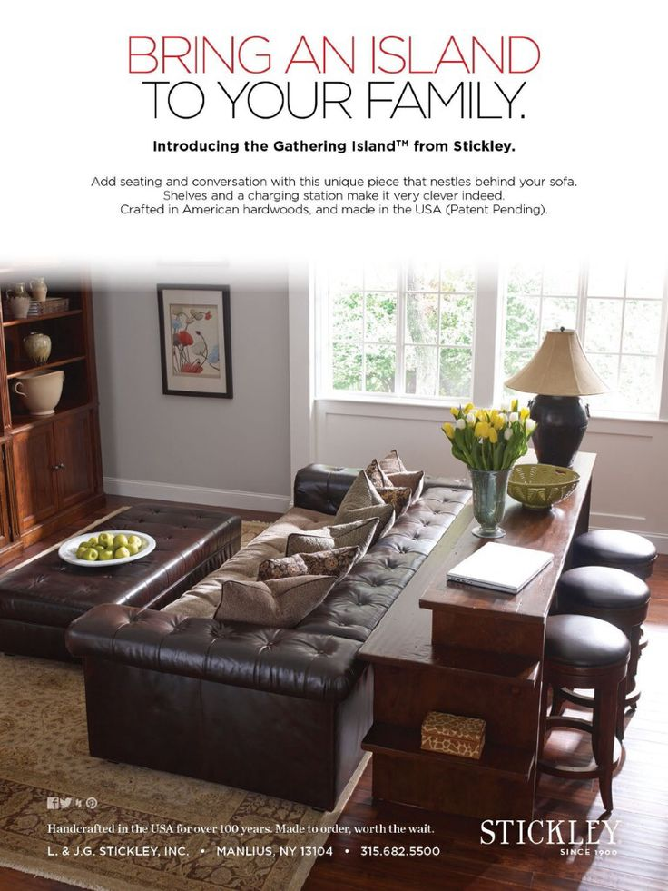 Behind couch bar seating for the home pinterest bar for Couch and loveseat arrangement ideas