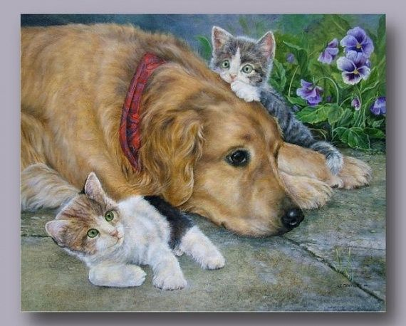 Картинки. Милые животные. Декупаж