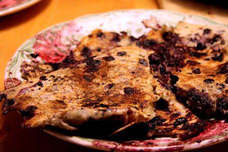 Moosbeeren - Pancakes with blueberries