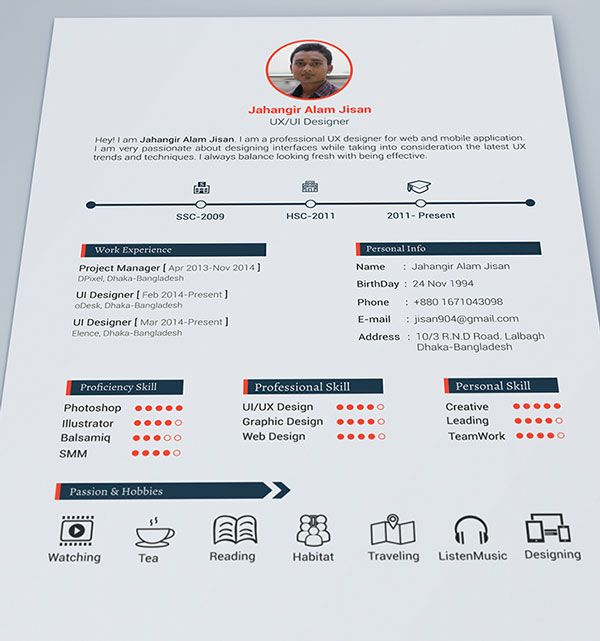 Best Curriculum Vitae Images On   App Design Charts