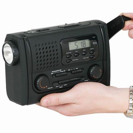 Dynamo Torch with Radio Clock and Emergency Alarm