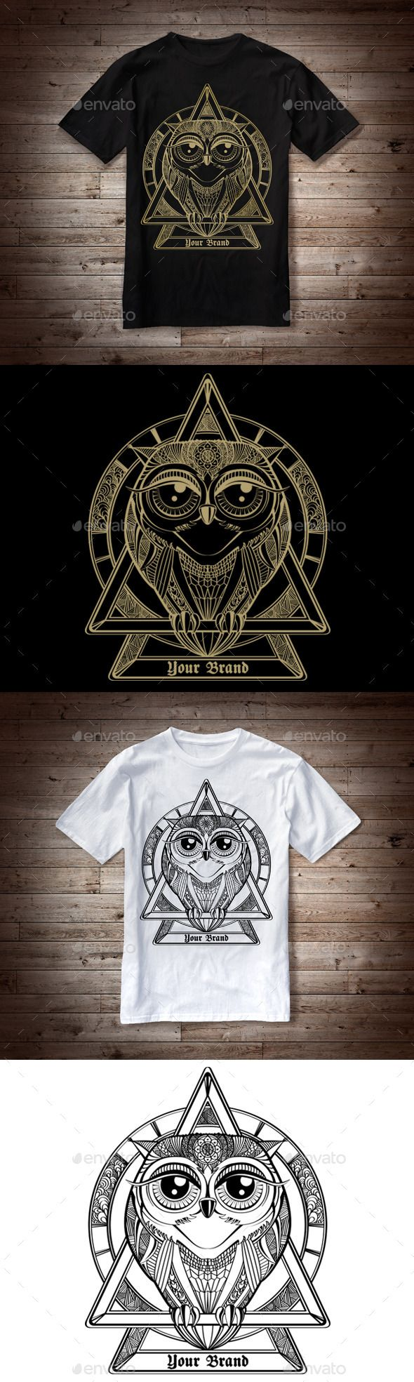 White t shirt eps - T Shirt Illustration Owl Theme