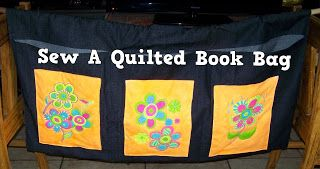 A Pretty Talent Blog: Sew A Quilted Book Bag