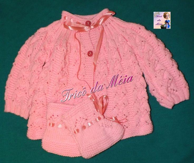 CASAQUINHO DE PEDRO  Montar 140 pontos na agulha nº 3 CORPO http://tricodameia.blogspot.com/ Fazer 5 cordões em tricô Fazer o...
