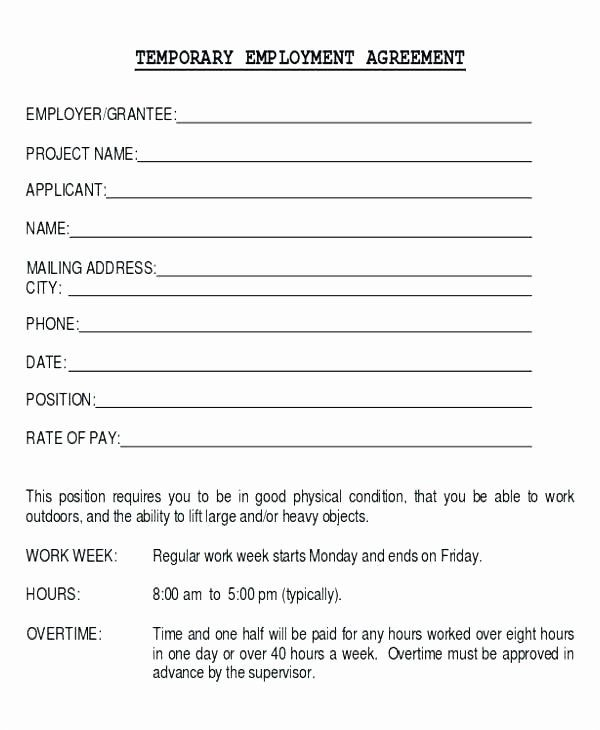 Temporary Employment Contract Template Beautiful Employment Agreement Template Word Physician Prof Treatment Plan Template Contract Template Blog Post Template