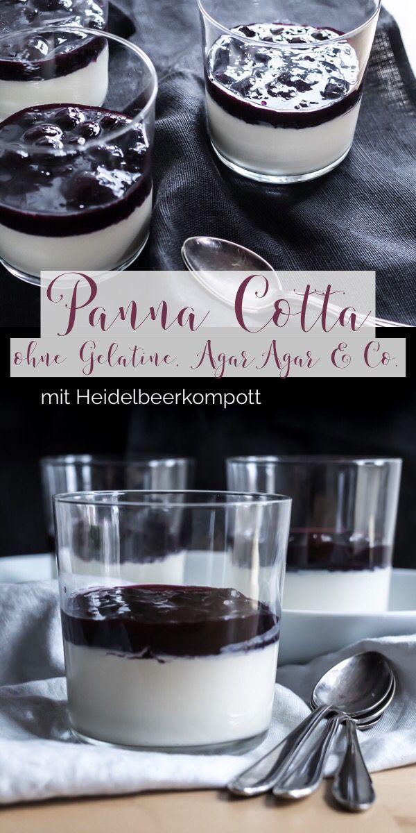Panna Cotta Mit Beeren Kompott Ohne Gelatine Agar Agar Co