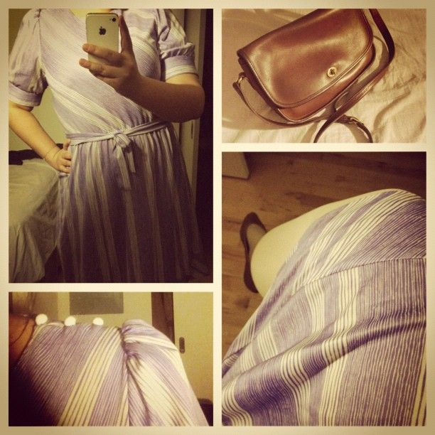 Dress from Black Market on Queen, #vintage Coach bag from Vintage 1 on Ossington. #whatiwore #dailyoutfit #ootd