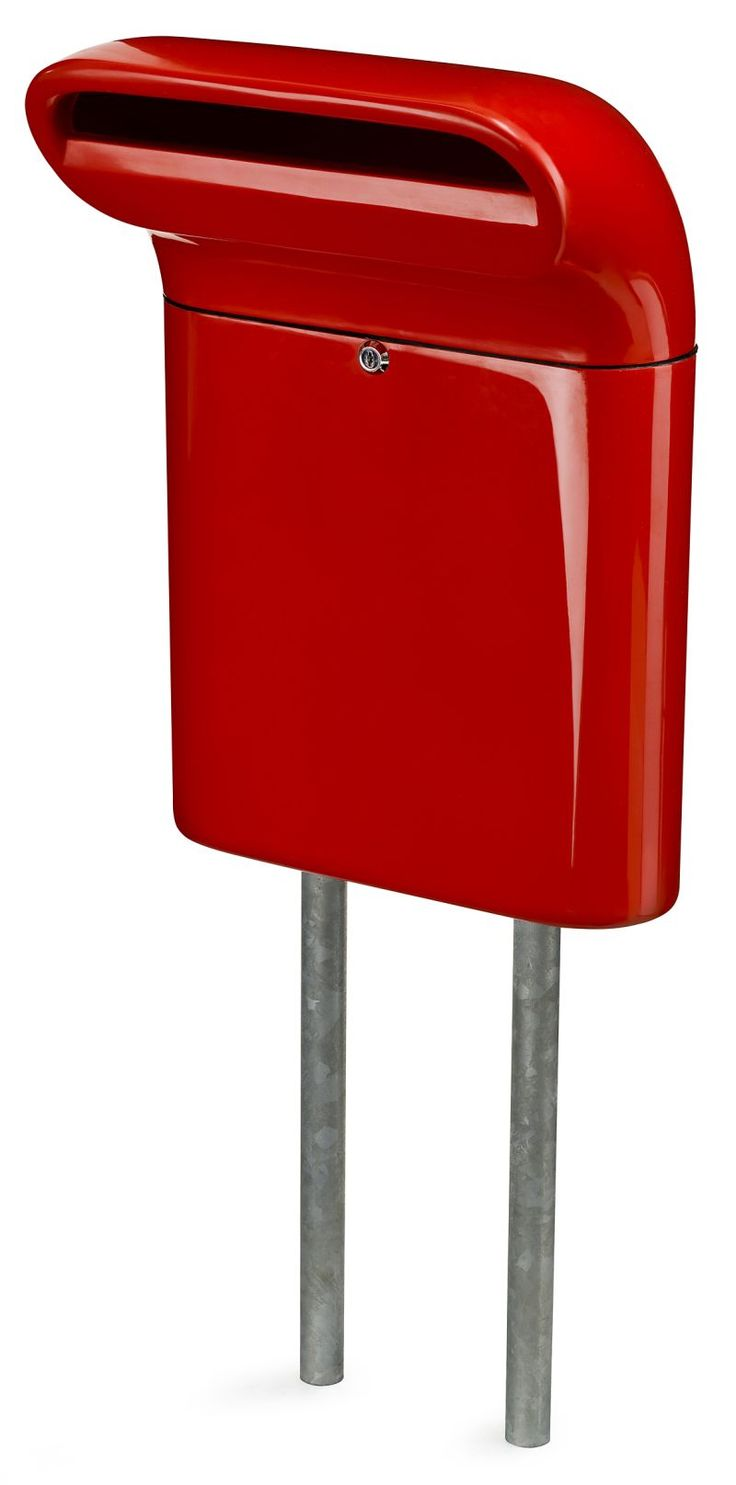 modern mailbox dwell. Mailbox Small Red By Born In Sweden Modern Dwell