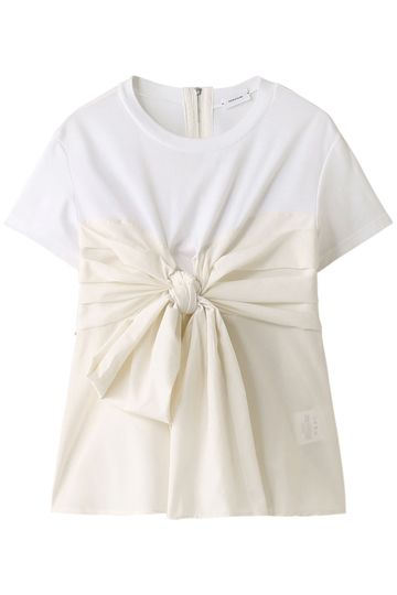 【予約販売】リボンラッフルTシャツ レキサミ/REKISAMI