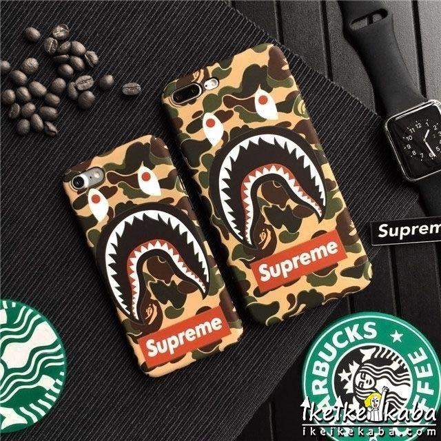 夜光型 Aape Iphone7カバー シュプリーム 格好良い iphone8ケース ヤング愛用 男性向け カモフラージュ柄