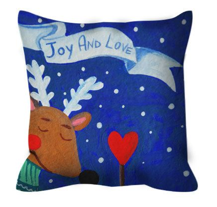 Pillow zippered with print illustration di LiuLab su Etsy